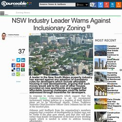 NSW Industry Leader Warns Against Inclusionary Zoning