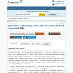 Relays Market - Global Industry Analysis, Size, Share, Growth, Trends and Forecast 2015 - 2021