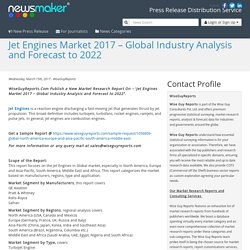 Jet Engines Market 2017 – Global Industry Analysis and Forecast to 2022