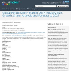 Global Potato Starch Market 2017 Industry Size, Growth, Share, Analysis and Forecast to 2021