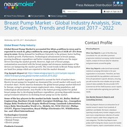 Breast Pump Market - Global Industry Analysis, Size, Share, Growth, Trends and Forecast 2017 – 2022