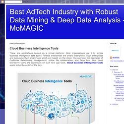 Cloud Business Intelligence Tools
