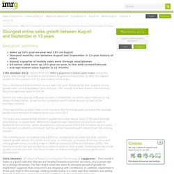 IMRG is the UK's industry association for online retail