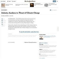 Industry Awakens to Threat of Climate Change