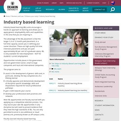 Industry based learning