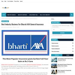 Best Industry Business For Bharati AXA General Insurance