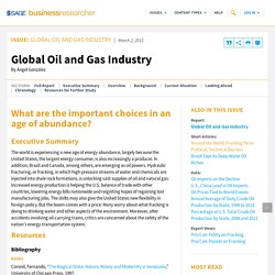 Global Oil and Gas Industry – SAGE Business Researcher