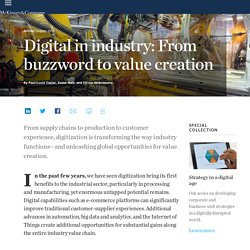 Digital in industry: From buzzword to value creation