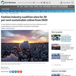 Fashion industry coalition aims for 30 per cent sustainable cotton from 2020