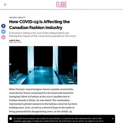 Fashion Industry Coronavirus: COVID-19's Impact on Canadian Designers
