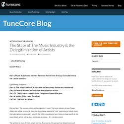 The State of The Music Industry & the Delegitimization of Artists (TuneCorner)