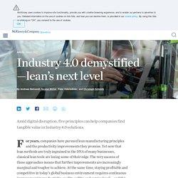 Industry 4.0 demystified
