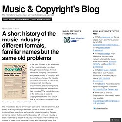 A short history of the music industry: different formats, familiar names but the same old problems