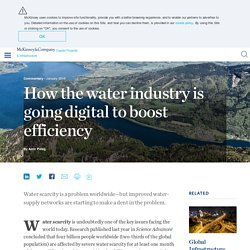 How the water industry is going digital to boost efficiency