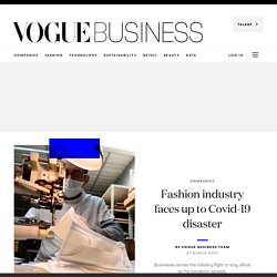 Fashion industry faces up to Covid-19 disaster