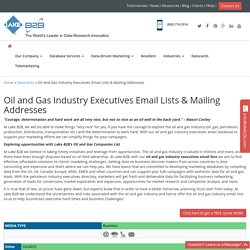 Oil and Gas Industry Executives Email List