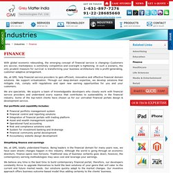 Finance industry web solution, financial and Accountancy website design - GMI