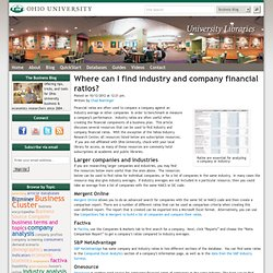 Where can I find industry and company financial ratios?