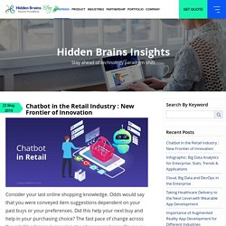 Chatbot in the Retail Industry : New Frontier of Innovation