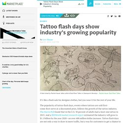 Tattoo flash days show industry's growing popularity