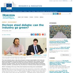 Horizon steel debate: can the industry go green?