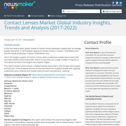 Contact Lenses Market Global Industry Insights, Trends and Analysis (2017-2022)