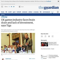 UK games industry faces brain drain and lack of investment, says Tiga