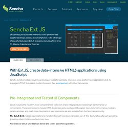 JavaScript Framework for Developing HTML5-based Web Apps | Ext JS 4 | Products | Sencha
