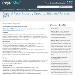 Apparel Retail Industry Opportunities and Forecast 2017