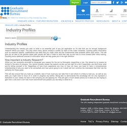 Industry Profiles for Graduate Jobs by GRB