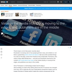 Value in the media industry is moving to the edges, and publishers are in the middle