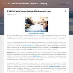 IPO & ESOP; use of Industry, Equity and Stock research reports