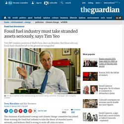 Fossil fuel industry must take stranded assets seriously, says Tim Yeo