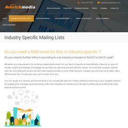 Industry Specific Mailing Lists