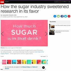 CNN: How the sugar industry sweetened research in its favor