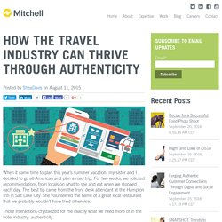How the Travel Industry Can Thrive Through Authenticity