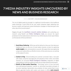 7 Media Industry Insights Uncovered by News and Business Research