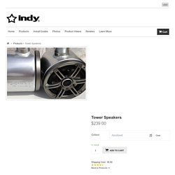 INDY Wakeboard tower speakers