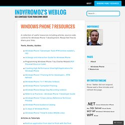 Windows Phone 7 Resources « Indyfromoz's Weblog