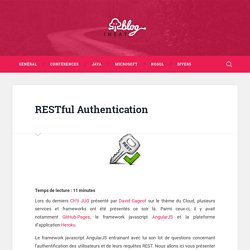 IneatConseil » RESTful Authentication