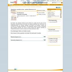 Séparations, nouvelles unions : quelles influences sur la fécondité ? 2010