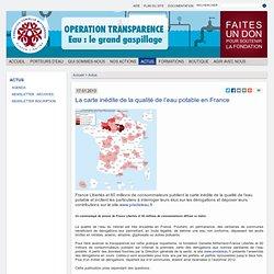 La carte inédite de la qualité de l'eau potable en France