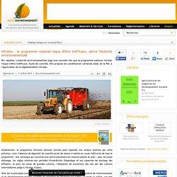 Nitrates : le programme national risque d'être inefficace, alerte l'Autorité environnementale