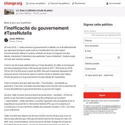 l'inefficacité du gouvernement #TaxeNutella