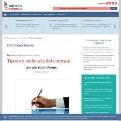 Tipos de ineficacia del contrato · Noticias Jurídicas