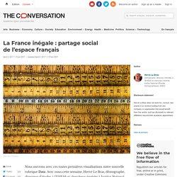 La France inégale: partage social del'espacefrançais