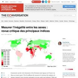 Mesurer l'inégalité entre lessexes: revuecritique desprincipauxindices
