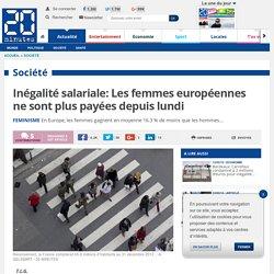 Inégalité salariale: Les femmes européennes ne sont plus payées depuis lundi