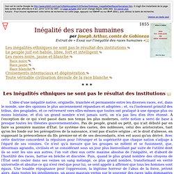 Inégalité des races humaines