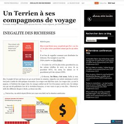 INEGALITE DES RICHESSES « Ecosynthèse: nouvelles d'un Terrien à ses compagnons de voyage